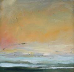 """Saatchi Art Artist Karen A Iglehart; Painting, """"Abstract Landscape, End of Day…"""