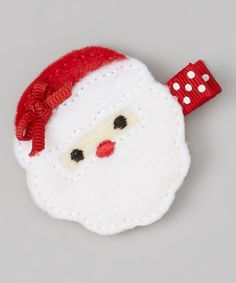 Take a look at this Red & White Santa Felt Clip on zulily today!