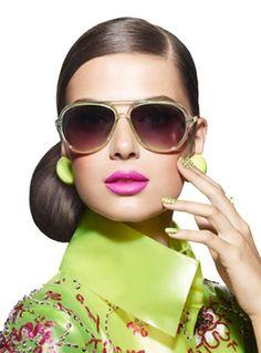Lunettes Noires, Rose Et Vert, Haute Couture, Fraise, Visages, Nuances De e232c0d3af6a