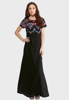 Cato Fashions Plus Petite Floral Embroidered Maxi Dress #CatoFashions