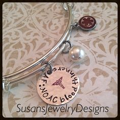 Medical Alert Expandable Bangle Bracelet  by SusansJewelryDesigns
