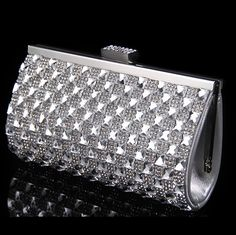 13.30$  Buy now - http://ali97p.shopchina.info/go.php?t=32313559875 - Crystal women clutch evening bags acrylic vintage wedding bridal handbags silver gold shoulder bags with chains 13.30$ #bestbuy