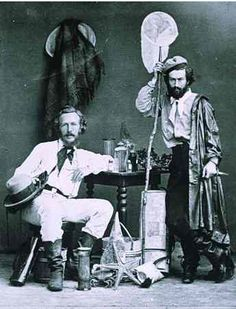 Ernst Haeckel and his assistant Nicholas Miklouho-Maclay, photographed in the Canary Islands in 1866.