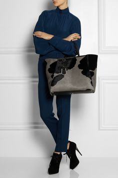 Fendi 2Jours large calf hair shopper NET-A-PORTER.COM