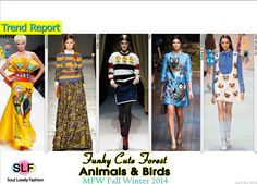 Funky Cute Animals & Bird Prints#Fashion Trend for Fall Winter 2014 #Fall2014 #FW2014 #Trends