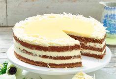 Herrlich einfach und wunderbar lecker: Diese weiße Schokoladen-Eierlikör-Torte müssen Sie unbedingt probieren!