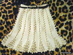 Inspirações de Croche com Any Lucy: Saias Unique Crochet, Love Crochet, Crochet Lace, Crochet Bikini, Crochet Skirts, Knit Skirt, Crochet Clothes, Crochet Baby Cocoon, Crochet Woman