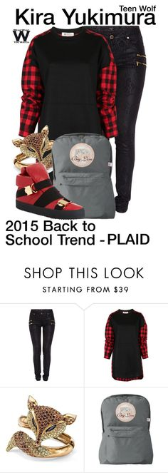"""""""Teen Wolf"""" by wearwhatyouwatch ❤ liked on Polyvore featuring Morgan, Palm Beach Jewelry, Giuseppe Zanotti, women's clothing, women, female, woman, misses, juniors and BackToSchool"""
