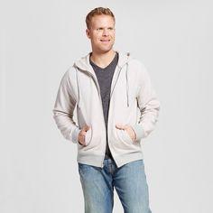 Men's Big & Tall Full Zip Hooded Sweatshirt Gray 4XBT - Mossimo Supply Co., Size: 4XB Tall
