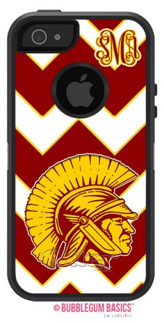 Custom COLLEGE Trojans Mascot #Football - #Monogram Personalized #OTTERBOX DEFENDER #iPhone 5 5S 5C 4/4S iPod Touch 5G #Case by iselltshirts