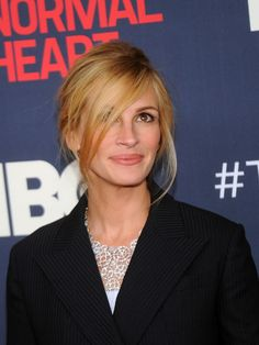 Julia Roberts chose a messy upswept style for The Normal Heart's screening in NYC.