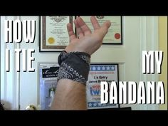 How to tie a Bandana - YouTube