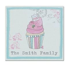#Personalised #vintage cupcake glass #chopping board,  View more on the LINK: http://www.zeppy.io/product/gb/2/152274400496/