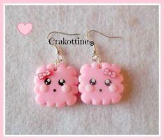 BO kawaii biscuit rose ☆ de =(◕.◕)=Les gourmandises de Crakottine =(◕.◕)= sur DaWanda.com