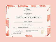Certificate for Courses