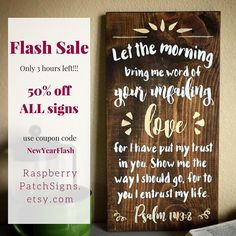 #FlashSale -- Only 5 hours left!!! 50% off ALL signs  save on shipping when you purchase multiple items. See etsy shop for more details. raspberrypatchsigns.etsy.com #raspberrypatchsigns #handpainted #signs #linkinprofile