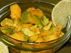 Avocado & Mango Salad. Light refreshing side dish.