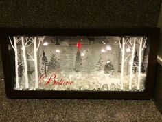 Shadow box winter seen