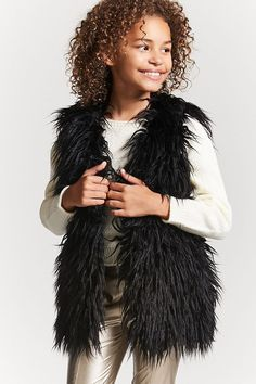 Product Name:Girls Faux Fur Vest (Kids), Category:GIRLS_Outerwear, Price:27.9