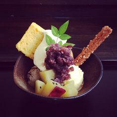 Japanese Parfait. 芋栗なんきん入り - @Naomi Francois Okunaka- #webstagram
