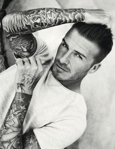 David Beckham soo hot and looks so good with tats