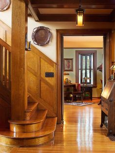 """Stair hall in a 1916 Aladdin kit house (""""The Rossley"""") — Arts & Crafts Homes and the Revival — Photos by Gridley + Graves"""