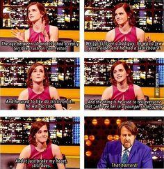 Emma Watson had a crush on Tom Felton (Draco Malfoy)