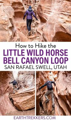 The Little Wild Horse Canyon - Bell Canyon Loop is a fun slot canyon hike in Utah. Here's how to do it. #slotcanyon #hiking #littlewildhorse #littlewildhorsecanyon