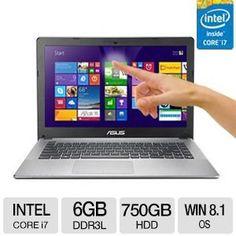 """ASUS K550LA 15.6"""" Touch Notebook - K550LA-TS71T Asus http://www.amazon.com/dp/B00KYXSGKE/ref=cm_sw_r_pi_dp_sD55tb1F3HB1H"""