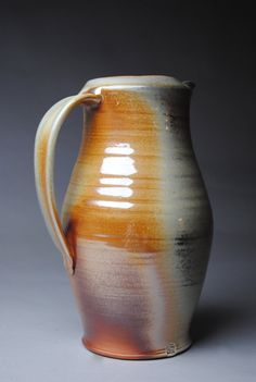 Wood Fired Pitcher by JohnMcCoyPottery on Etsy, $70.00
