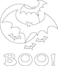 Applique - Idea Block - Bats, Moon and Boo!