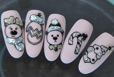 Nail Art Designs Videos, Christmas Nail Art Designs, Holiday Nail Art, Winter Nail Art, Xmas Nails, Christmas Nails, Cute Nail Art, Cute Nails, Diagonal Nails