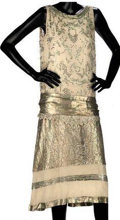 Cocktail dress, Lucien Lelong, 1920s. Christie's.