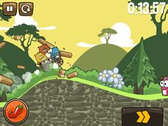 Crash, omg!    Noble Nutlings Screenshot for iPad  #apps #games #mobilegames #mobile #ios #iphone #noblenutlings