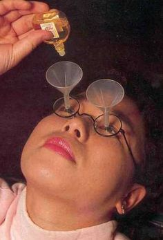 Chindogu (Useless Inventions) Eyedrop Funnel Glasses
