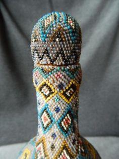 Ottoman-Turkish-1876-77-War-POW-brown-glass-BEADWORK-Handmade-RARE