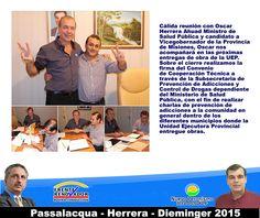 El coordinador de la Unidad Ejecutora Provincial Luis Pires coordina apoyo al Dr. Herrera. #Passalacqua2015 #Herrera2015 #Dieminger2015 #SiSePuede #Obera #Politica