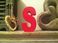 Freestanding Wooden Letter 'S'   30cm  Ariel by LoveLettersMe