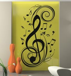 Music Clef wall decal sticker for home decoration
