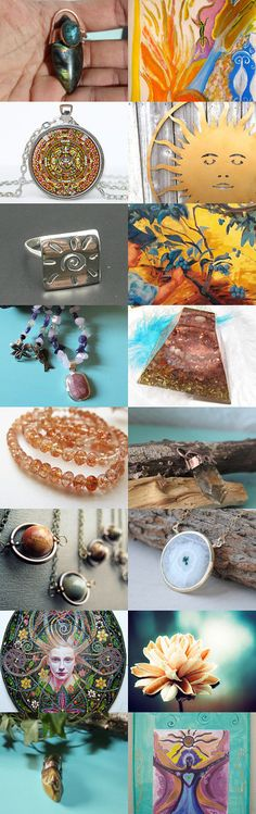 Sunny spring treasury  by joel settati on Etsy--Pinned with TreasuryPin.com- featuring my Sacre Fire ( poster proposition), my Venus necklace, my Triple Goddess Citrine pendant and my Angel Rafael Greeting Card :)