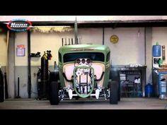 Nene NHRA - Ford 34 Drag Rat V8 Blower - Burnout - YouTube