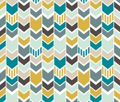 Baby quilt ideas - NauticalChevron fabric by mrshervi on Spoonflower - custom fabric