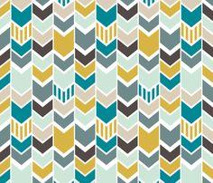 Baby quilt ideas - NauticalChevron fabric by mrshervi on Spoonflower - custom fabric