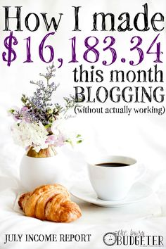 July 2016 Blogging Income Report- I read SO MANY blog income reports and hers are always my favorite. I love that she breaks down exactly what is and isn't working for her and that she isn't secretive about her strategy. It makes such a huge difference in the income of my own blog to see where others have gone before me.