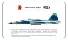 527th TFTAS PROFILE PRINT. F-5E RAF ALCONBURY