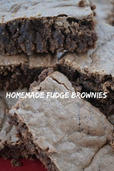 fudge brownies recip
