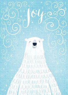 Polar bear illustration color blu sky light blue
