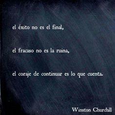 Aquí les dejamos una frase motivadora del gran Wiston Churchill. ¡Feliz Lunes!