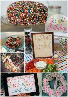 Yesterday I shared the story behind the birthday smack in the middle of Christmas and today we're going to talk about the party details! I'll be honest and say it's hard for me to transition from C. 3rd Birthday Parties, Birthday Fun, Cupcake Birthday, Birthday Ideas, Sprinkles, Sprinkle Party, Baby Sprinkle, Magdalena, Party Entertainment