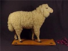 wooley pull toy sheep
